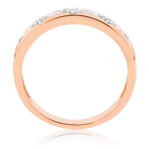 Diamond Set Stacker Ring in 10ct Rose Gold