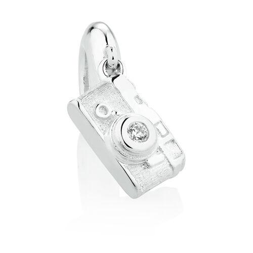 Camera Dangle Charm in Sterling Silver