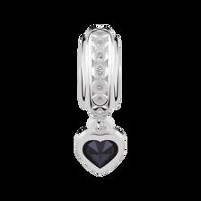 Sterling Silver September Heart Charm