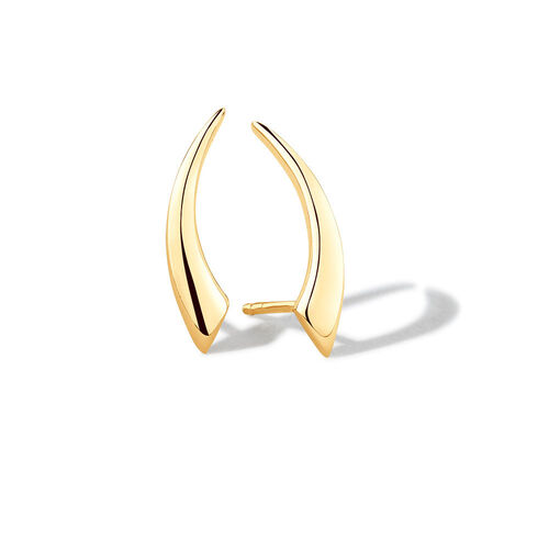 Curved Stud Earrings in 10ct Yellow Gold