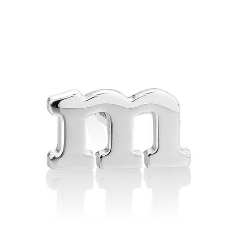 """""""M"""" Stud Earring in Sterling Silver"""