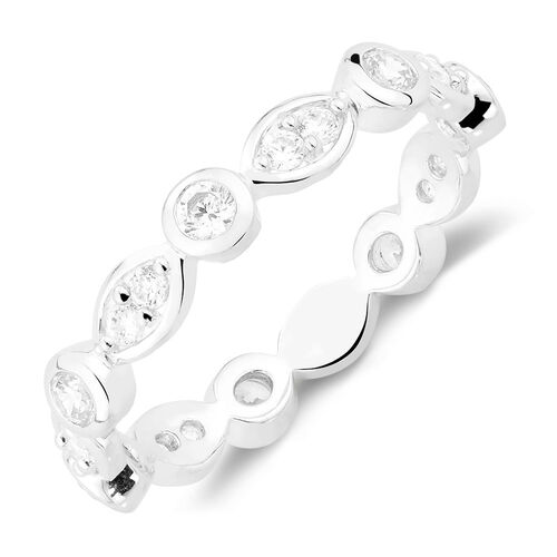 Cubic Zirconia Stack Ring