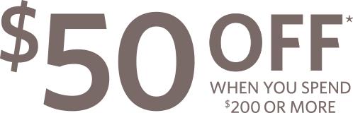 $50 OFF*