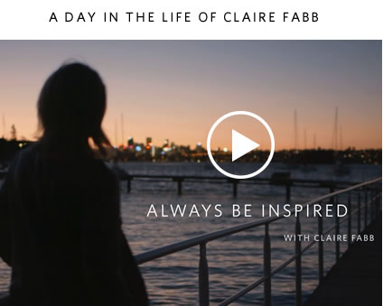 Watch the video: A day in the life of Claire Fabb >