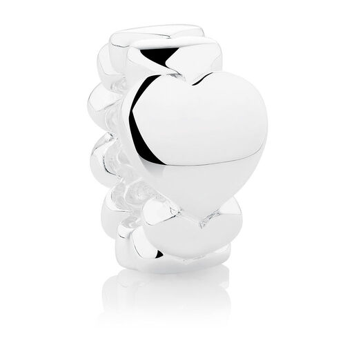 Wild Hearts Heart Spacer in Sterling Silver