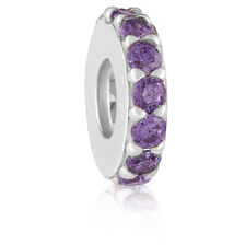Purple Cubic Zirconia Spacer