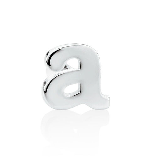 """""""A"""" Initial Stud Earring in Sterling Silver"""