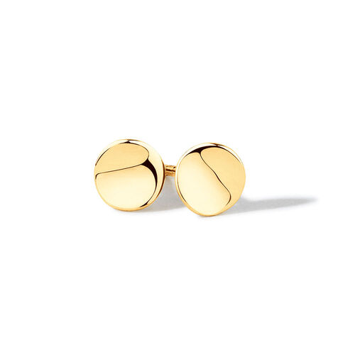 Round Stud Earrings in 10ct Yellow Gold