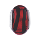 Red & Black Murano Glass Charm