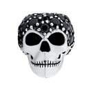 Black Cubic Zirconia & Sterling Silver Skull Wild Hearts Charm