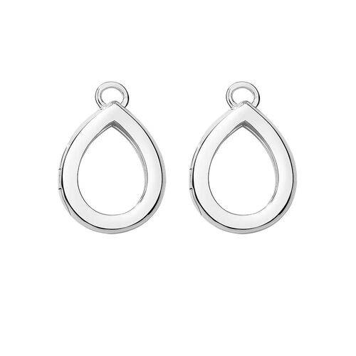 Pear Stud Earrings in Sterling Silver.