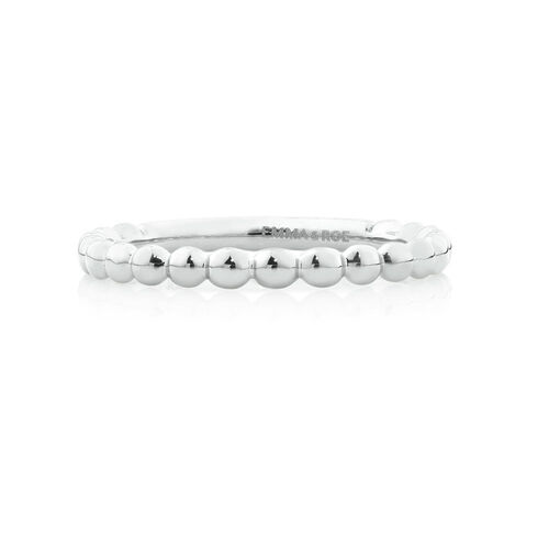 Bubble Stacker Ring in 10ct White Gold