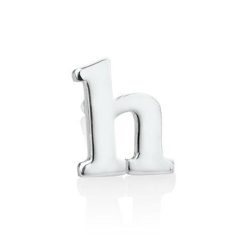 """""""H"""" Stud Earring in Sterling Silver"""