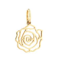 10ct Yellow Gold Rose Mini Pendant