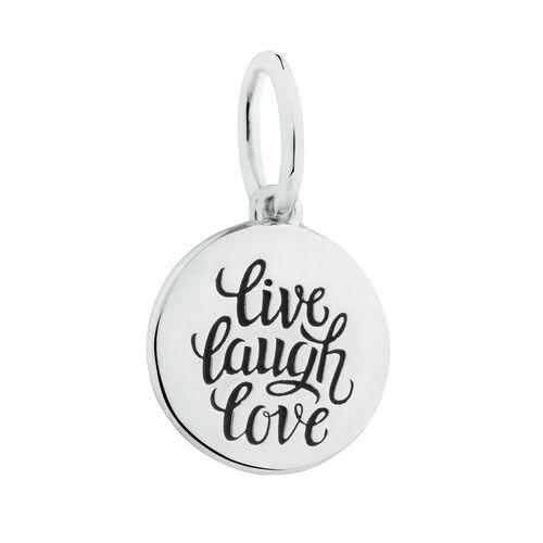 """""""Live, Laugh, Love"""" Mini Pendant in Sterling Silver"""