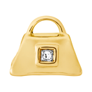 Diamond Set & 10ct Yellow Gold Handbag Charm