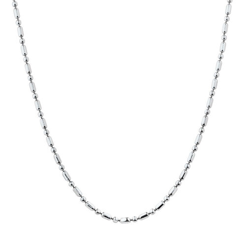 "60cm (24"") Beaded Chain in Sterling Silver"