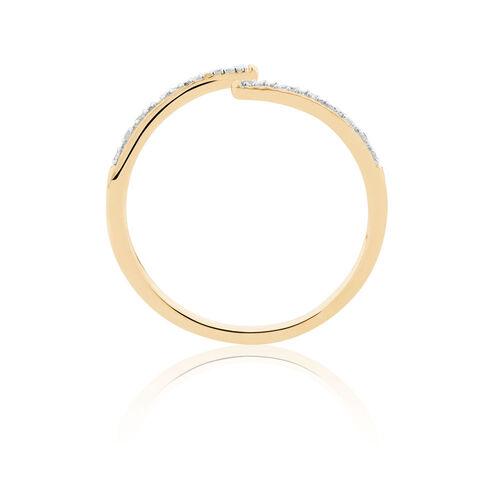 Diamond Set Spiral Ring in 10ct Yellow Gold