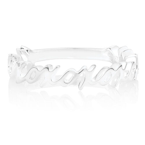 """XOXO"" Stacker Ring in Sterling Silver"