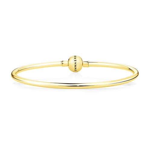 Charm Bangle in 10ct Yellow Gold