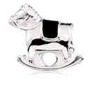Sterling Silver Rocking Horse Charm