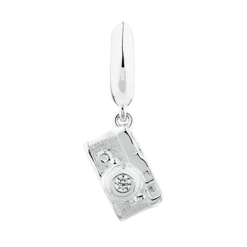Camera Dangle Charm in Sterling Silver