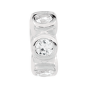 Cubic Zirconia & Sterling Silver Spacer