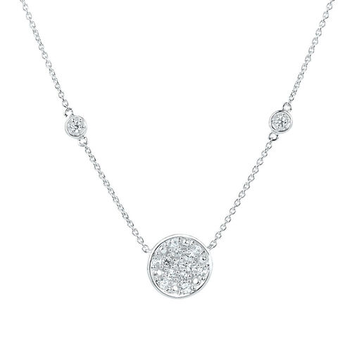 "45cm (18"") Necklace with Cubic Zirconia in Sterling Silver"