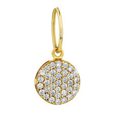 Circle Mini Pendant with Cubic Zirconia in 10ct Yellow Gold