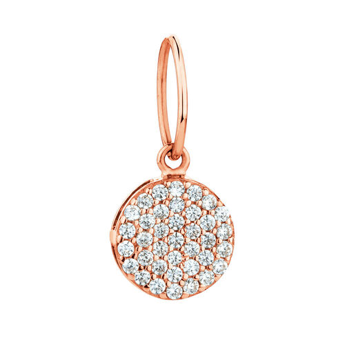 Circle Mini Pendant with Cubic Zirconia in 10ct Rose Gold
