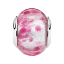Dark Pink Murano Glass Charm