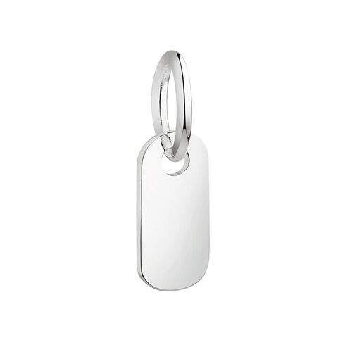 Engravable Rectangle Mini Pendant in Sterling Silver