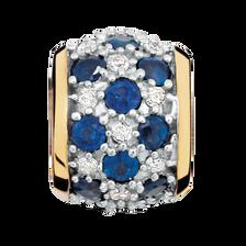 Sapphire & Diamond Set Charm