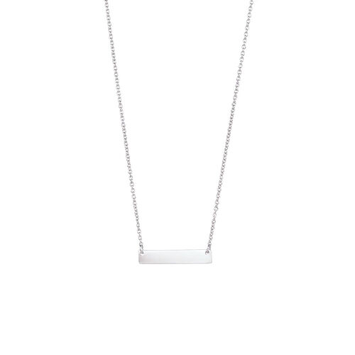"45cm (18"") Engravable Bar Necklace in Sterling Silver"