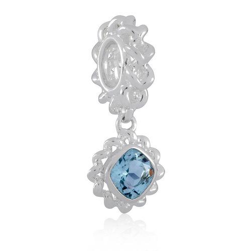 Aquamarine & Sterling Silver Charm