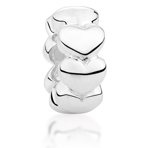 Sterling Silver Heart Pattern Spacer