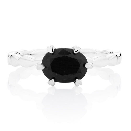 Black Cubic Zirconia Stack Ring