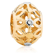 10ct Yellow Gold Patterned Charm