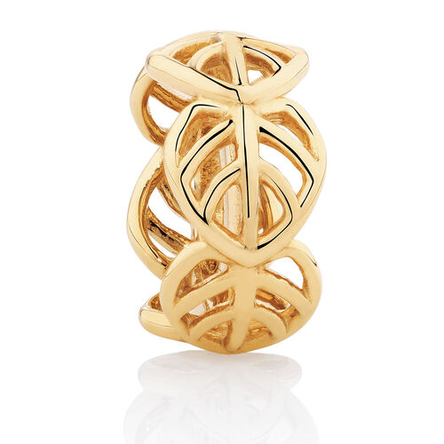 Leaf Spacer in 10ct Yellow Gold