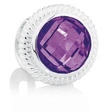 Purple Cubic Zirconia & Sterling Silver Wild Hearts Charm