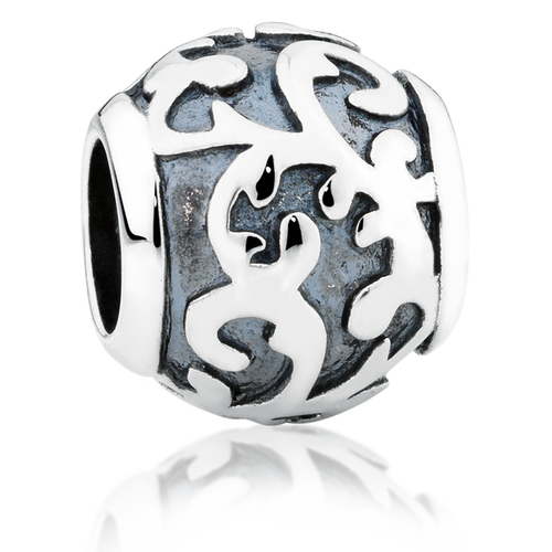 Sterling Silver Oxidised Filigree Charm