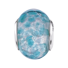 Teal Murano Glass Charm