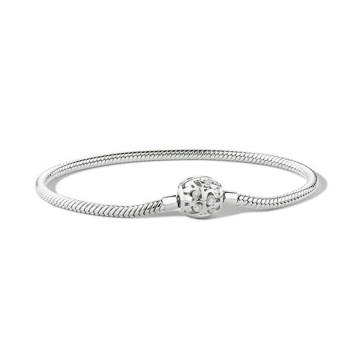 """19cm (7.5"""") Charm Bracelet with Cubic Zirconia in Sterling Silver"""