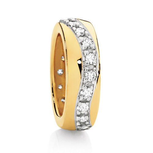 Diamond Set & 10ct Yellow Gold Spacer
