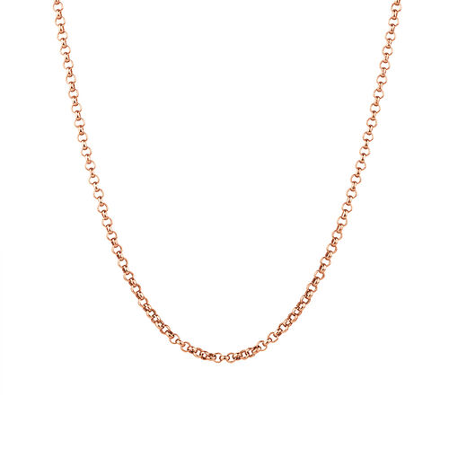 "60cm (24"") Belcher Chain in 10ct Rose Gold"