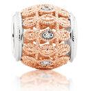 Diamond Set & 10ct Rose Gold Art Deco Charm