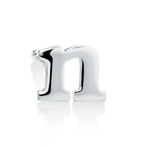 """N"" Stud Earring in Sterling Silver"