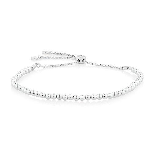 Adjustable Ball Bracelet in Sterling Silver