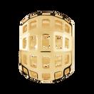 10ct Yellow Gold Square Filigree Charm