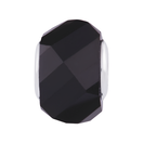 Black Crystal Faceted Charm